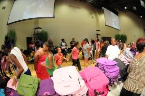 Kroc Center Back Pack party 08.17.2013